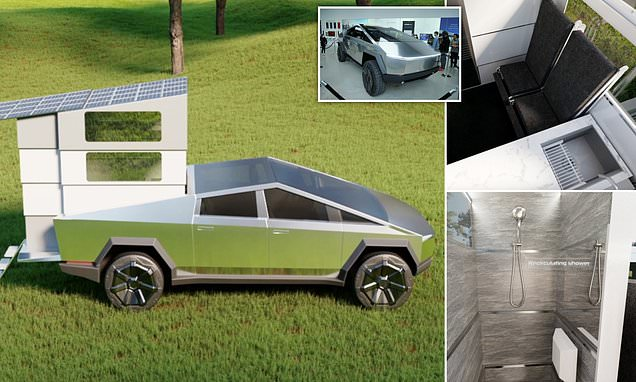 The add-on that turns the Tesla Cybertruck into a mini home on wheels