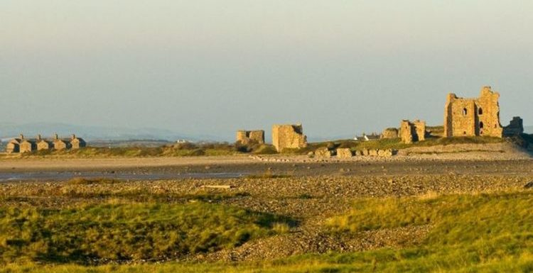 Tiny Cumbria island that only has three houses, a pub and and  castle