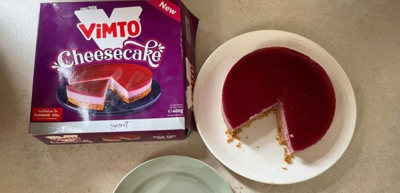 'We tried a Vimto cheesecake from Iceland and it's made with a secret recipe'