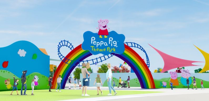 World's first Peppa Pig theme park to open next year with six thrilling rides
