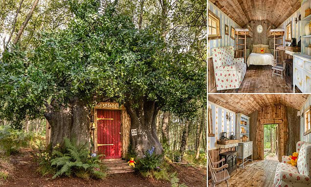 'Bearbnb' inspired by the Winnie the Pooh house available on Airbnb