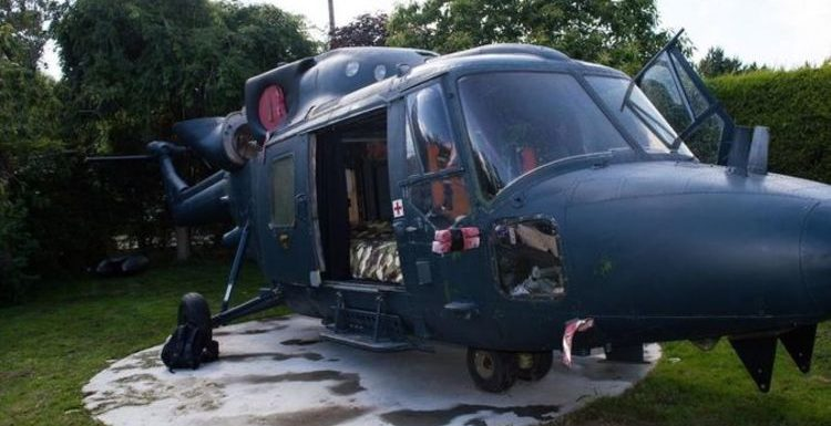 Have a sleepover in an ex-army helicopter near the Suffolk coast