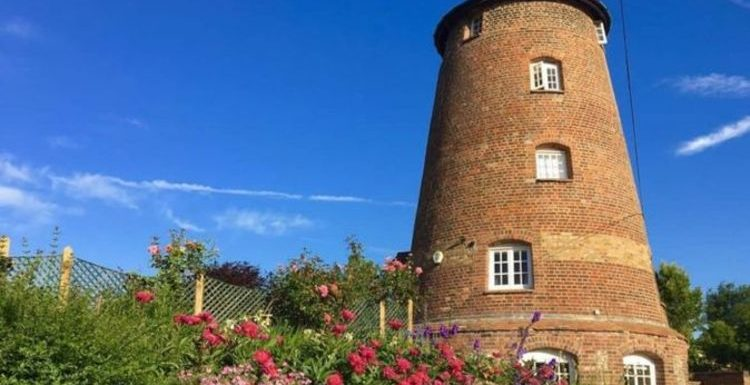 Sleep at this five storey windmill right between Windsor Castle and Buckingham Palace