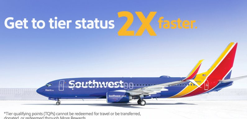 Southwest Airlines promotion offers faster track to A-List status