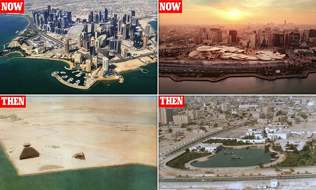 The transformation of Doha revealed by then and now pictures