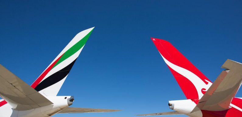 Emirates, Qantas agree to extend partnership until 2028
