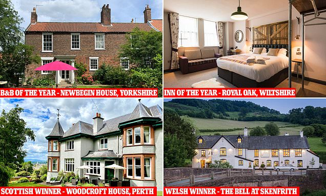 UK's best hotels and inns of 2021 – exclusively revealed by the Mail