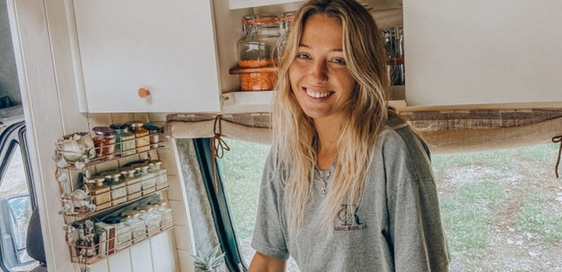 Woman turns run-down van into stunning motorhome and travels the world in it
